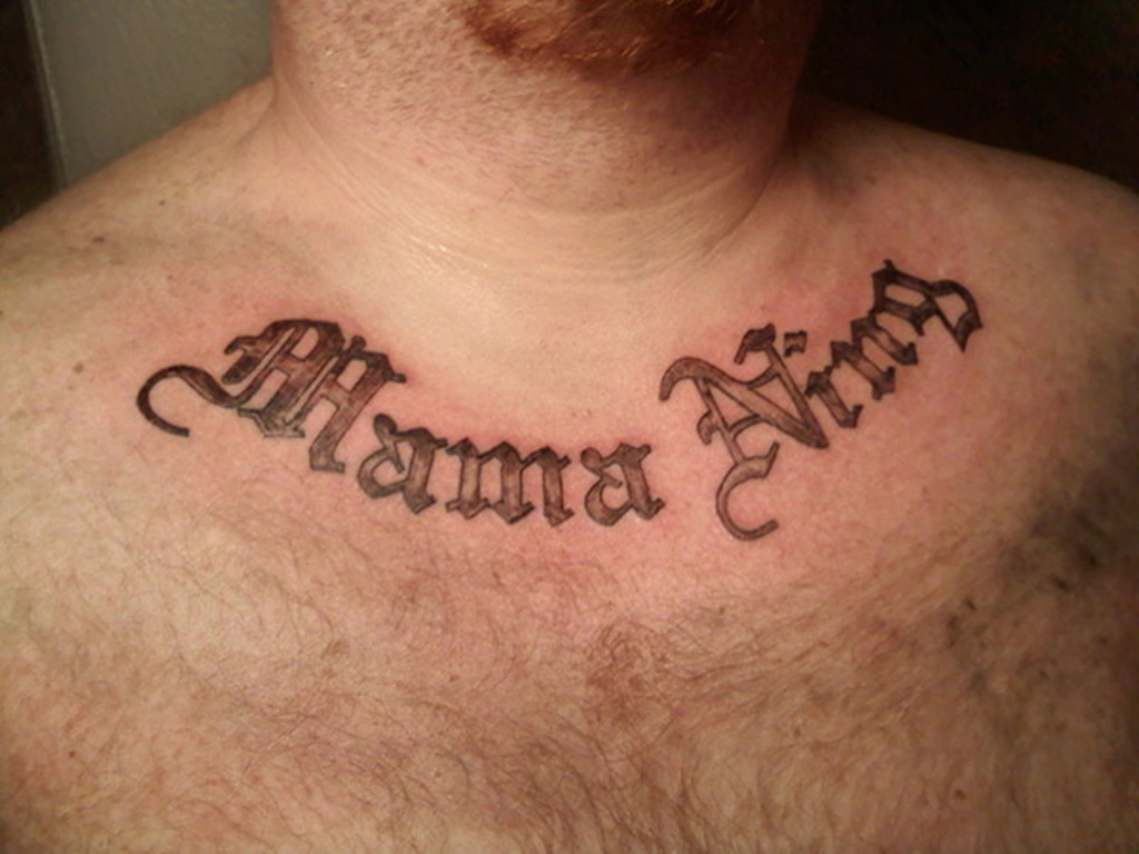 35 Abstract Neck Letters Tattoo